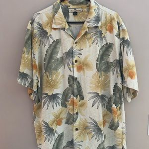 Tommy Bahama Matched Front Hawiian Shirt 100% Silk